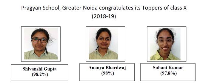 CBSE 10th result Pragyan school Greater Noida