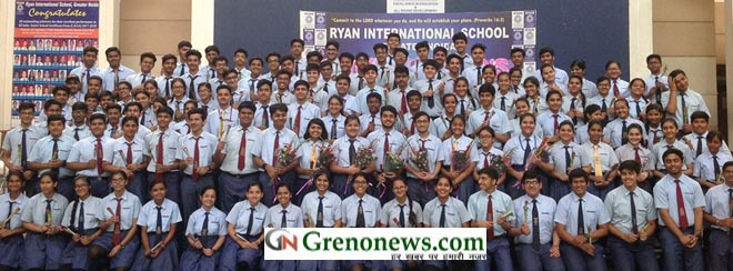 Felicitation of X board achievers at Ryan Greater Noida- GRENONEWS