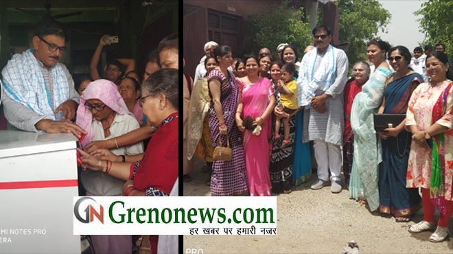 WATER COOLER INSTALLED IN OLD AGE HOME BY MAHILA SHAKTI SAMAJIK SAMITI- GRENONEWS