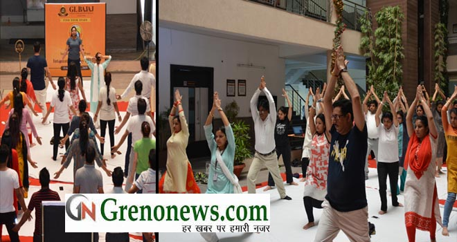YOGA DAY IN GL BAJAJ
