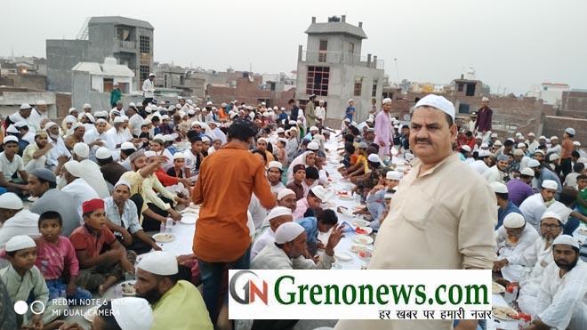 roja iftar party in chand masjid dadri- GRENONEWS