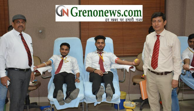 4th Blood Donation Camp & Van mahotsav organized at GL Bajaj Institute of Management & Research - GRENONEWS