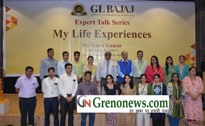 """""""Expert Talk series on My Life Experiences"""" at GLBIMR, Greater Noida campus- GRENONEWS"""