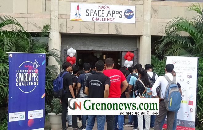 Galgotias University hosted the NASA Space Apps Challenge pre-qualifier hackathon at Galgotias University - GRENONEWS