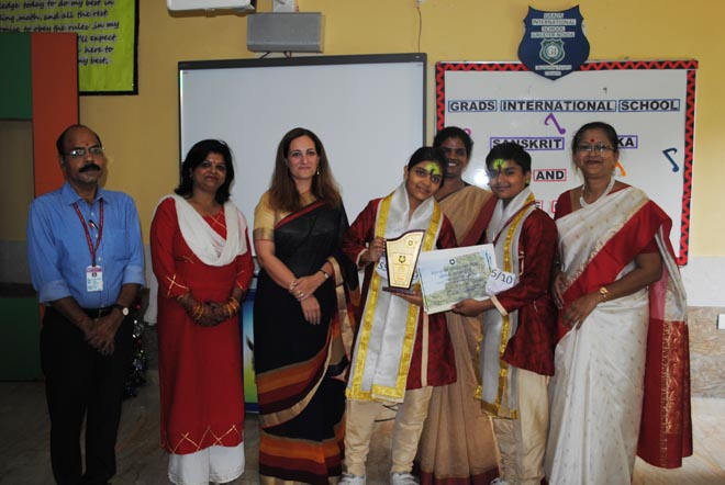 SHLOK AND GEETHAM COMPETITION IN Grads International School Greater Noida - GRENONEWS