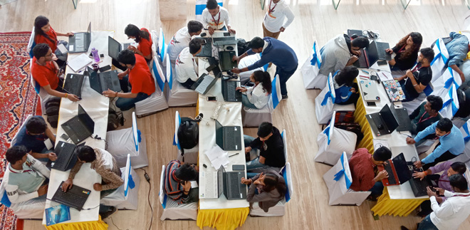 GALGOTIA UNIVERSITY CSE Department organised 24 Hrs long Hackathon on 22-23rd Nov 2019 at Galgotias University