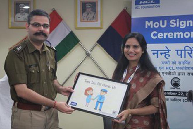 NANHE PARINDE BY HCL FOUNDATION AND NOIDA POLICE- GRENONEWS