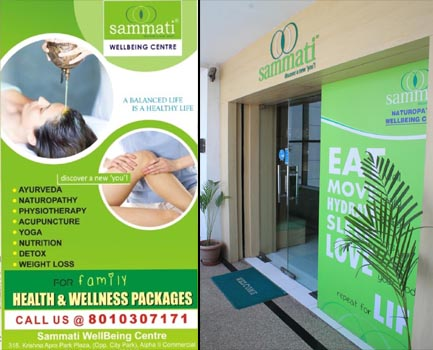Sammati WellBeing Centre, 316 Krishna Apra Park Plaza, (Opp. City Park) Alpha II Commercial Belt, Greater Noida 201310