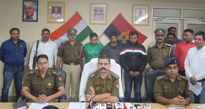 NOIDA POLICE OPENED THEFT CASE OF BIHAR EX CM FLAT IN DELHI , THREE THIEVES ARRESTED BY NOIDA 58 THANA POLICE.