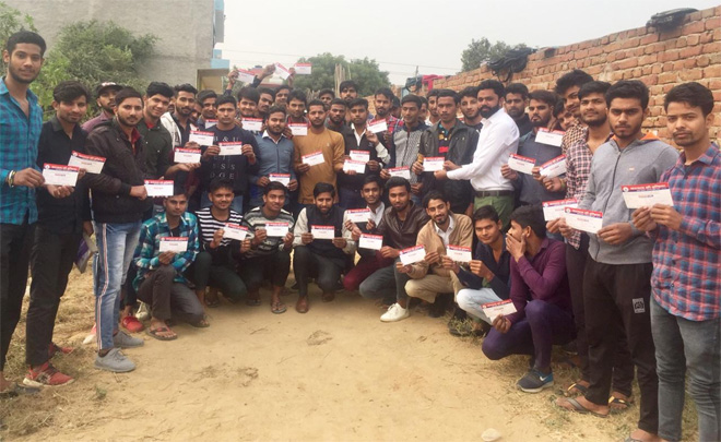 HUNDREDS OF STUDENTS JOINED AND TAKEN MEMBERSHIP OF CORRUPTION FREE INDIA - GRENONEWS