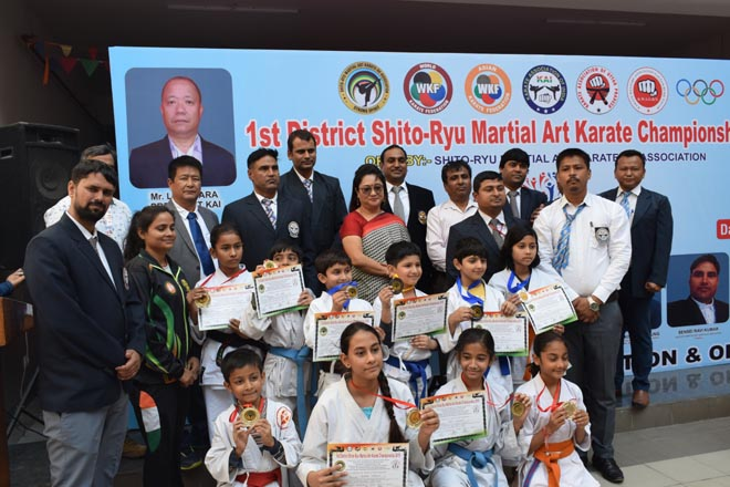 SHITU RYU MARTIAL ART KARATE CHAMPIONSHIP HELD IN WISDOM TREE SCHOOL IN GRATER NOIDA WEST GREATER NOIDA