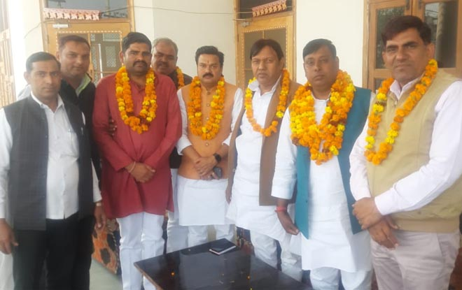 BJP NEWLY APPOINTED DISTRICT PRESIDENT VIJAY BHATI WARM WELCOMED BY NOIDA DADRI BUS ASSOCIATION - GRENONEWS